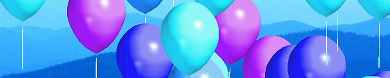image from screen shot of Touch Balloons